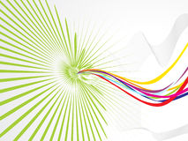 Abstract wave with rainbow theme1. Vector illustration Royalty Free Stock Photography