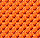 Abstract wave red orange color pattern wallpaper Stock Image