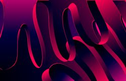 Abstract wave ribbon background,violet,blue pink color stock illustration