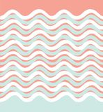 Abstract wave seamless pattern. Wavy geometric background. Stock Photo