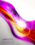 Abstract wave shiny background Stock Photography