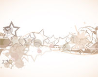 Abstract wave with stars Royalty Free Stock Photography