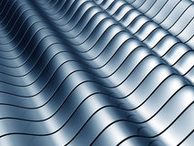 Abstract wave steel background. Abstract blue wave steel background 3d illustration Royalty Free Stock Photography