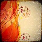 Abstract wave vector background with swirls. royalty free illustration