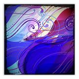 Abstract wave vector background with swirls. Stock Photos