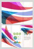 Abstract wave Vector Brochure Template. Royalty Free Stock Photo