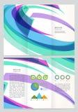 Abstract wave Vector Brochure Template. Stock Photos