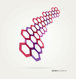 Abstract wave Vector hexagons template Royalty Free Stock Image