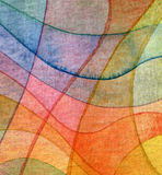 Abstract wave watercolor painted background Royalty Free Stock Photos