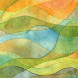 Abstract Wave Watercolor Painted Background Stock Photography