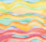 Abstract wave watercolor painted background. Stock Photography