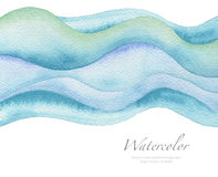 Abstract wave watercolor painted background. Paper texture. Stock Image