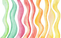 Abstract wave watercolor painted background. Paper texture. Stock Images