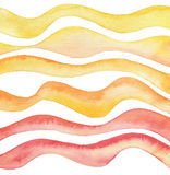Abstract wave watercolor painted background. Paper texture. Royalty Free Stock Image