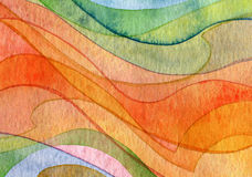 Abstract wave watercolor painted background Royalty Free Stock Photo