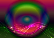 Abstract waved lines. On colorful background Royalty Free Stock Image