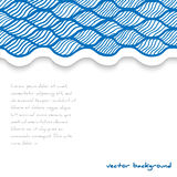Abstract waved template. Vector illustration Stock Photo