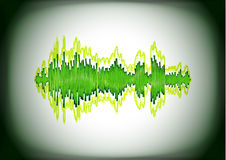Abstract waveform card Royalty Free Stock Images