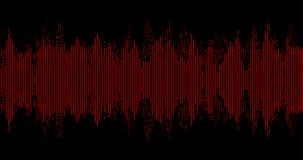 Abstract waveform red stock video footage