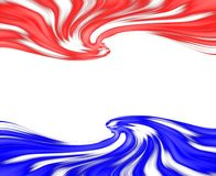 Abstract waves. Abstract image of red and blue waves with copyspace Royalty Free Stock Photography