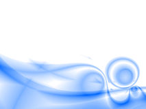 Abstract waves. Overflowing the tints of blue color on a white background Stock Photo