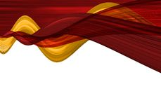 Abstract waves. Abstract claret and yellow waves Royalty Free Stock Images