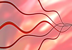 Abstract waves. Abstract red background stock illustration