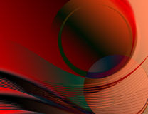 Abstract Waves. Artistic Abstract Waves Of A Digital Background Illustration vector illustration