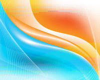 Abstract waves background. Blue/orange abstract background, editable vector Vector Illustration