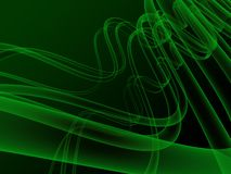 Abstract waves background. 3d illustration of abstract waves, xray, on dark green background Royalty Free Stock Photos
