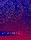 Abstract waves background with banner for business brochure cover design. Abstract waves dynamic background with banner for business brochure cover design vector illustration