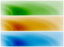 Abstract waves background banners. Abstract banner background compostion - swirly waves in blue, green, orange/brown Stock Photos