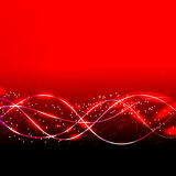 Abstract waves background in red colors.  illustration Stock Photo