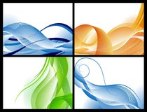 Abstract waves background set Royalty Free Stock Image