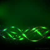 Abstract waves background. Vector illustration in green colors. Royalty Free Stock Photography