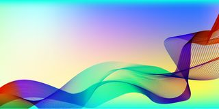 Abstract waves on a colored background royalty free illustration