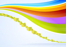 Abstract  waves and cubes background Stock Images