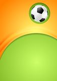 Abstract waves football sport background Stock Images