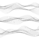 Abstract waves, grey lines on white background. Wave background, abstract grey lines on white background, vector file Royalty Free Stock Image