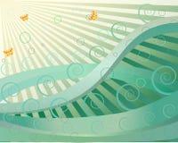 Abstract waves  illustr Stock Image