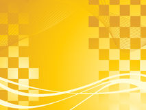 Abstract waves isolated on yellow Royalty Free Stock Images