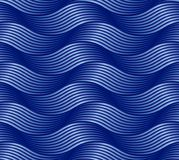Seamless abstract pattern waves royalty free illustration