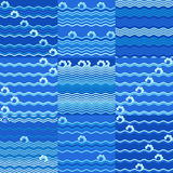 Abstract waves patterns Royalty Free Stock Images
