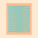 Abstract waves photo frame Stock Image