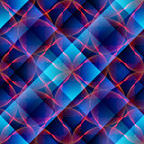 Abstract waves on plaid background Royalty Free Stock Image