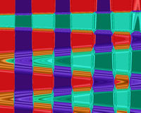 Abstract waves with purple, orange, green and brown colors Stock Images