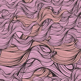 Abstract waves seamless pattern Royalty Free Stock Photos