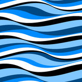 Abstract waves in a seamless pattern Royalty Free Stock Images