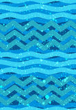 Abstract waves seamless Patterns - Nautical Sea Theme Stock Photography