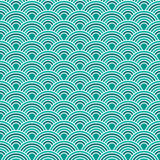 Abstract waves simple seamless blue tone pattern Royalty Free Stock Photography